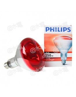 Philips Infrared Reflector Lamp IR250RH BR125 250W E27 (Red)