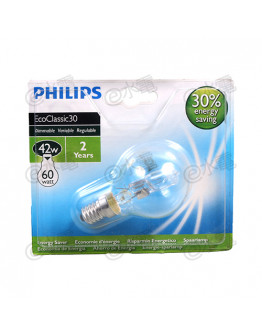 Philips EcoClassic HalogenA lamp P45 42W 2800K E14 Screw-in base Clear