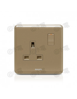 Philips Origamistyle 13A 1 Gang Switched Socket (CoCo)