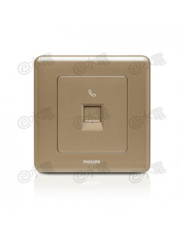 Philips Origamistyle 1 Gang RJ11 Telephone Socket (CoCo)