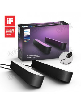 Philips Hue Play Smart Light Bar for Home Theatre & Game (Black/ Double Pack)