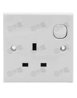 Schneider Electric E30 13A 1 gang Switched Socket Outlet
