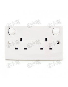 Schneider Electric E30 13A 2 gang Switched Socket Outlet
