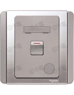 Schneider Electric Neo / E3000 13A Fused Connection Unit with double pole switch (Grey Silver)
