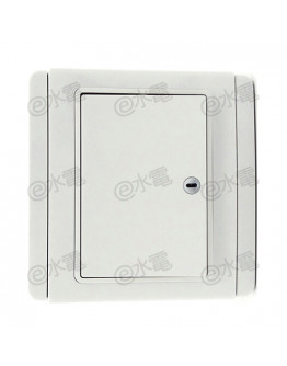 Schneider Electric Neo / E3000 10A 1 gang 1 way horizontal dolly switch with LED (White)