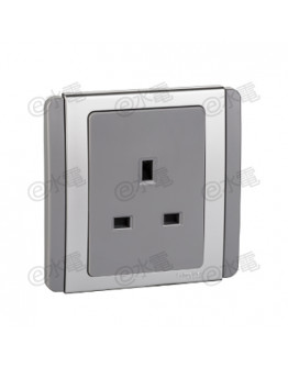 Schneider Electric Neo / E3000 13A socket outlet (Grey Silver)