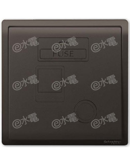 Schneider Electric PIENO 13A 1 Gang Fused Connection Unit with Double Pole Switch and Neon (Matt Black)