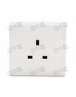 Schneider Electric PIENO 13A 1 Gang Socket (White)