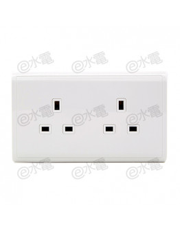 Schneider Electric PIENO 13A Twin Gang Socket (White)