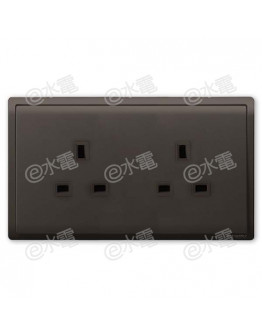 Schneider Electric PIENO 13A Twin Gang Socket (Matt Black)