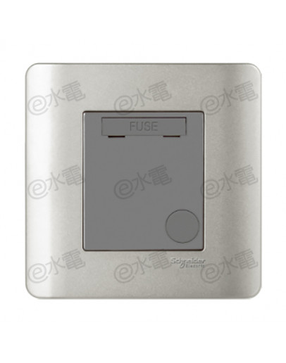Schneider Electric ZENcelo 13A Fused Connection Unit (Silver Satin)