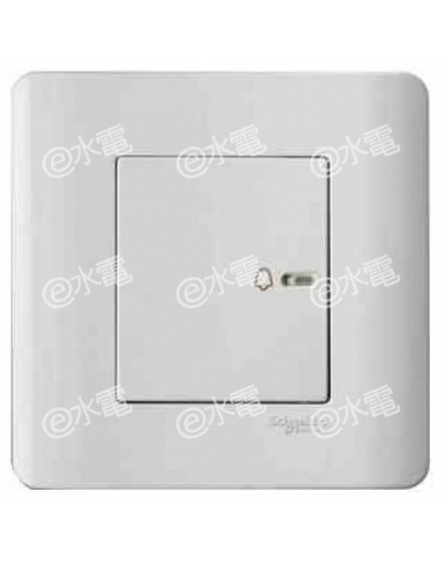 Schneider Electric ZENcelo 10A Full-Flat Bell Switch (White)