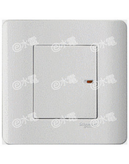 Schneider Electric ZENcelo 20A 1 Gang Full-Flat Double Pole Switch with Neon (White)