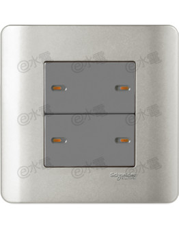 Schneider Electric ZENcelo 16AX 4 Gang 1 Way Full-Flat Switch with Ondicator (Silver Satin)