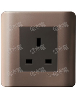 Schneider Electric ZENcelo 13A 1 Gang Socket (Silver Bronze)