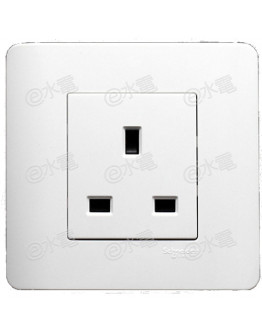 Schneider Electric ZENcelo 13A 1 Gang Socket (White)