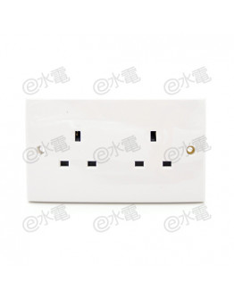 Schneider Electric E30 13A twin socket outlet (White)