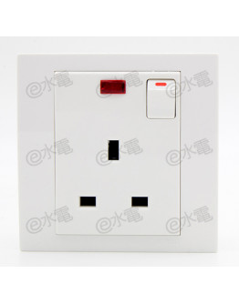 Schneider Electric Vivace 13A 1 Gang Switched Socket with Neon (White)