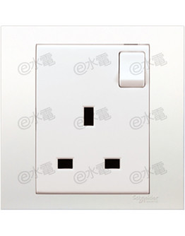 Schneider Electric Vivace 13A 1 Gang Switched Socket (White)