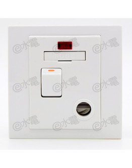Schneider Electric Vivace 13A Switched Fused Connection Unit with Neon (White)