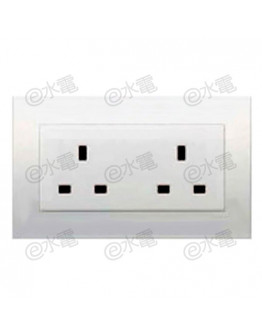 Schneider Electric Vivace 13A Twin Gang Socket (White)