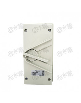 Schneider Electric Kavacha 440V 20A Triple Pole Isolator Switch (Grey)