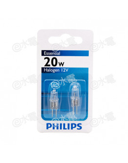Philips Essential Capsuleline Halogen lamps 20W 12V 3000K Neutral Warm White G4 (In pack of 2-pcs)