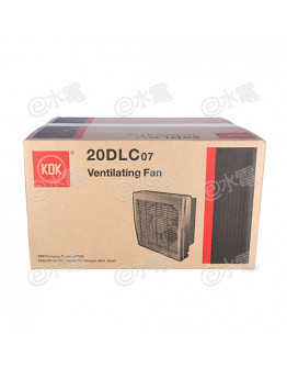 "KDK 20DLC07 8"" Wall Mount Ventilating Fan (with front louver)"