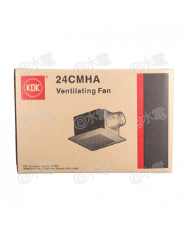 "KDK 24CMHA 9.6"" Ceiling Mount Ventilating Fan (210CMH Air Volume)"