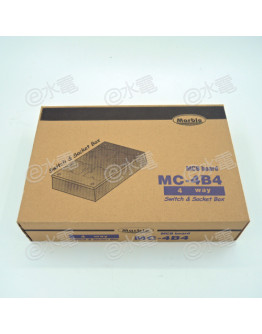 Marble MC-4B4 4-way Switch and Socket Box