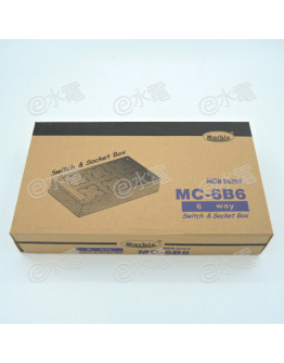 Marble MC-6B6 6-way Switch and Socket Box