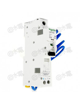 Schneider MG iC60N 32A 6kA 1 Pole + Neutral Residual current breaker with overcurrent protection (RCBO) White