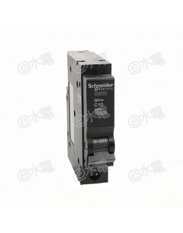 Schneider SQD QOVS 10A 6kA Single Pole Miniature circuit-breaker (MCB) Black